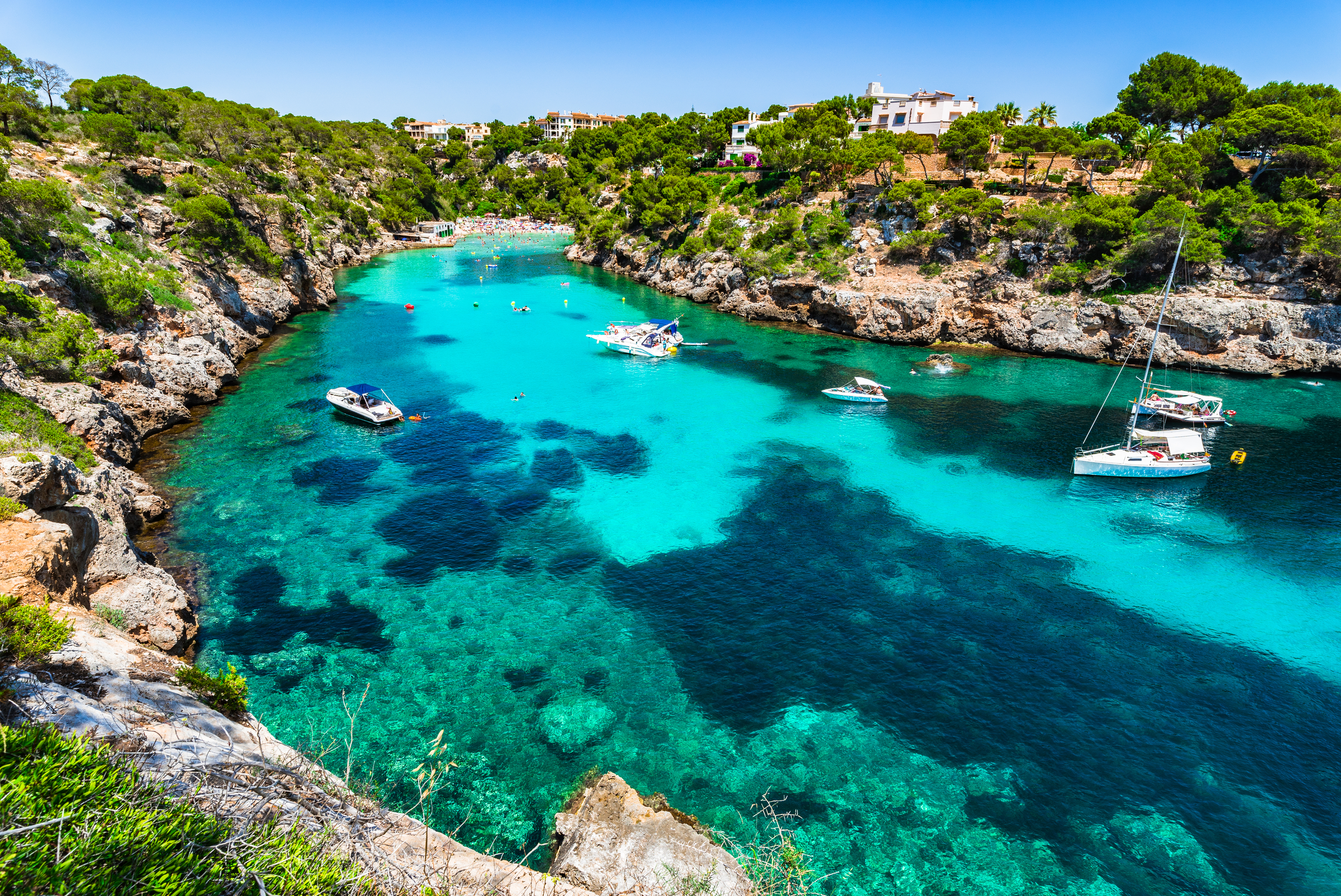 Stunning bay Cala Pi beach on Majorca island Spain