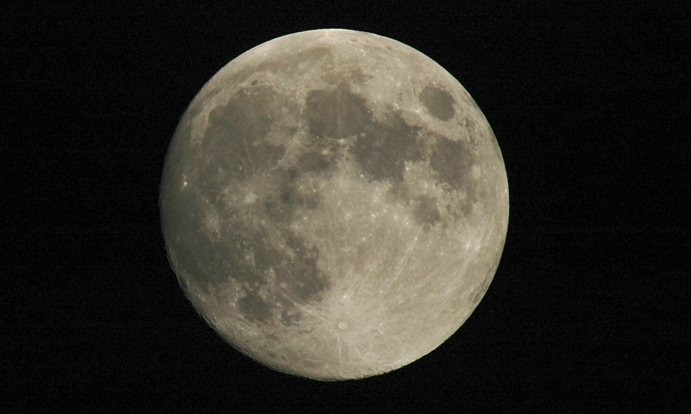 Full moon shot showing details of the moon's surface